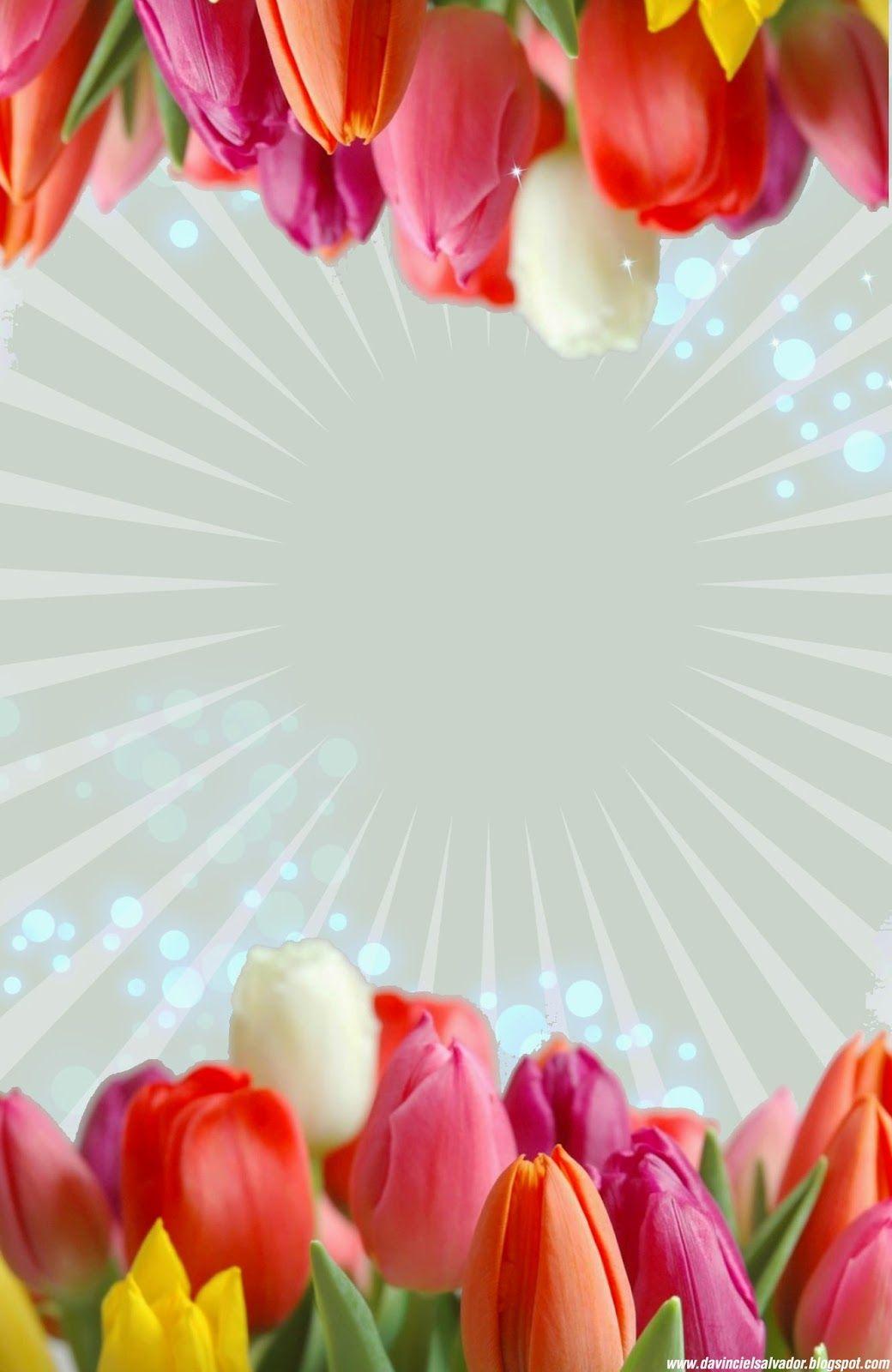 Tulipanes | Plantillas para tus Invitaciones | Pinterest ...