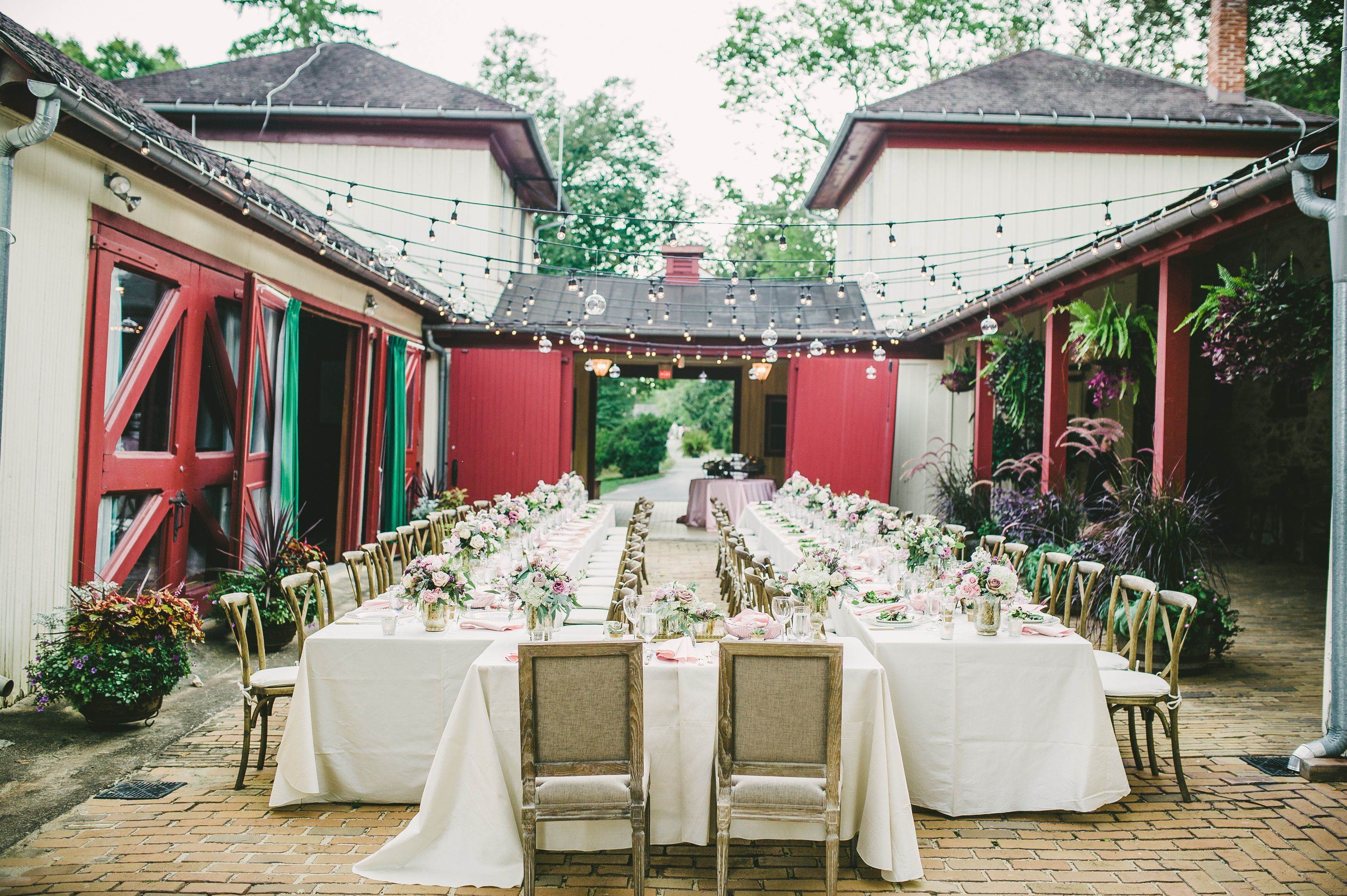 Morven Park Wedding | The Old Carriage House At The Morven Park Mansion Set Up For An