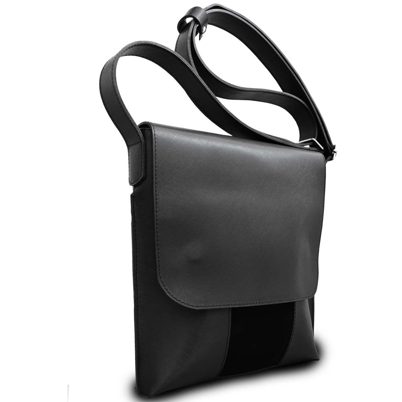 bfa25af4d4aa Стильная сумка планшет с клапаном на магнитах из стойкой к царапинам  сафьяновой кожи и вставкой из