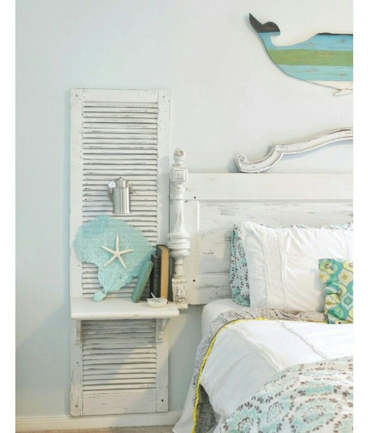 Pin By Debbie Evans On Deco Ideas In 2019: Upcycled Shutters Make The Perfect Bedside Decor