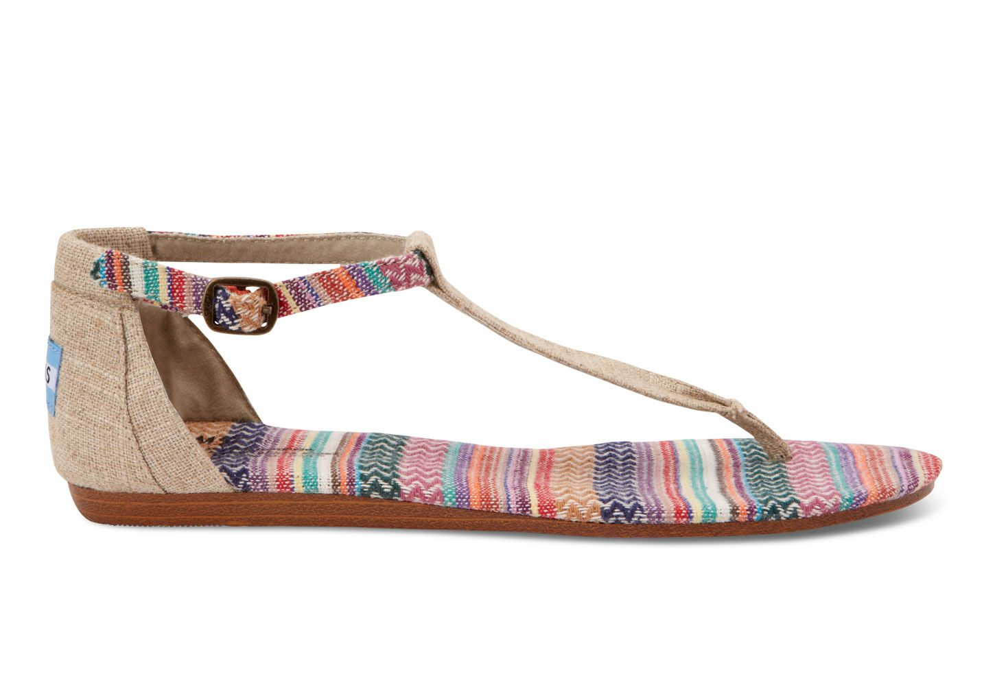 Mixed Woven Burlap Burlap Women's Playa Sandals