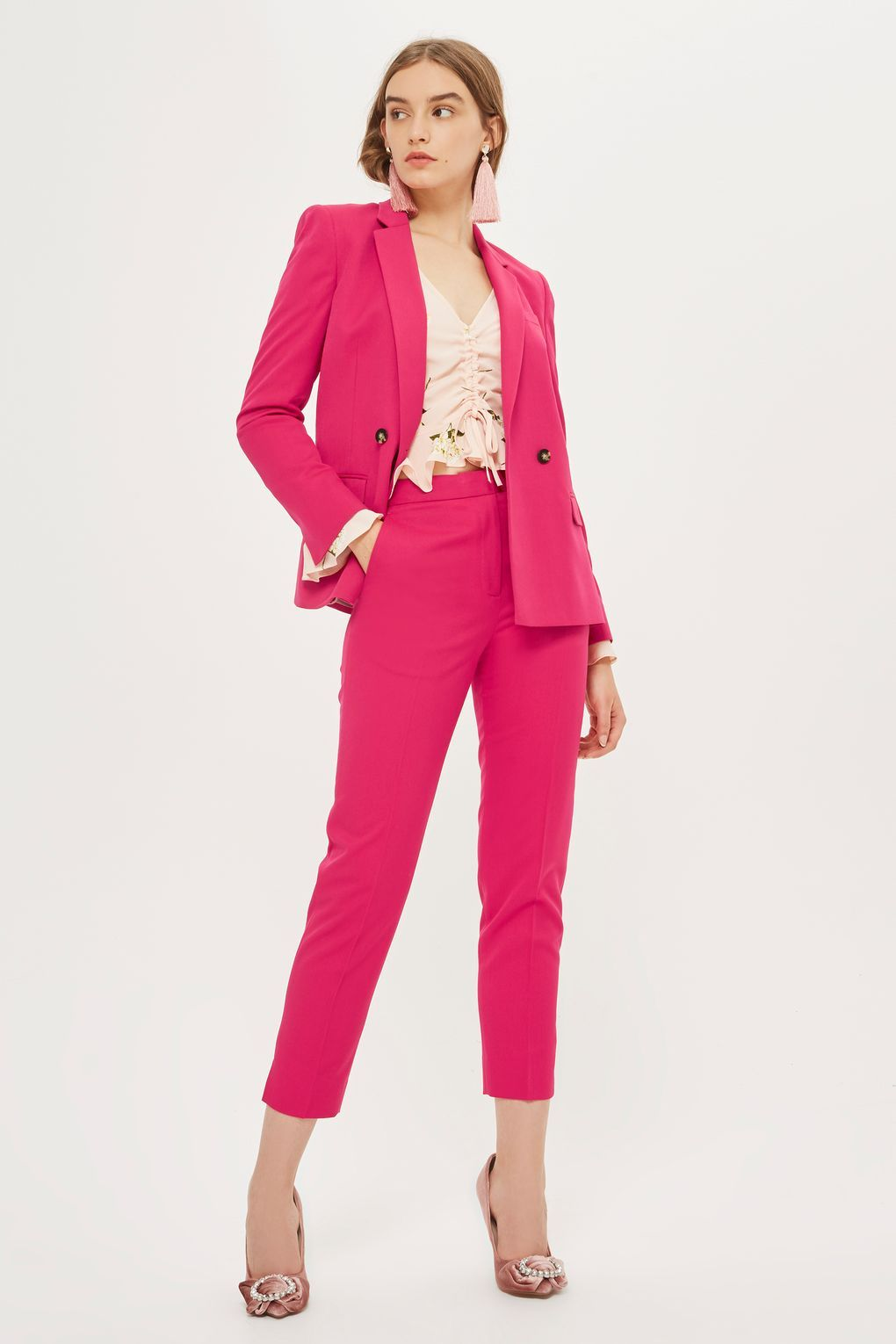 515235ec1f54 TOPSHOP DOUBLE BREASTED SUIT JACKET AND TROUSERS SET ...