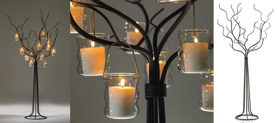 Metal table centerpieces tree candle centerpiece