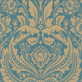 Desire Teal/Gold - This spectacular damask wallpaper pays homage to the floral designs of a vintage age. It is $99 a roll and available at www.wallcandywallpaper.com.au