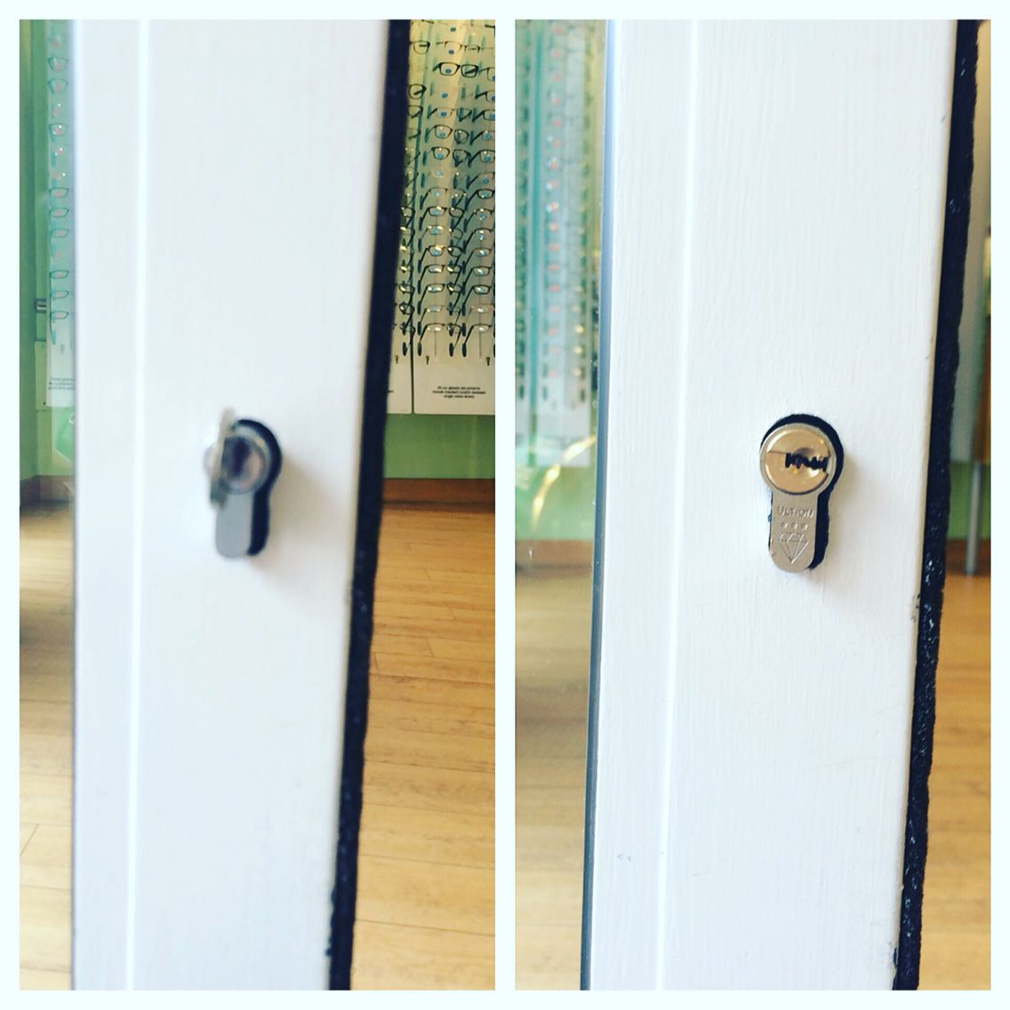 Lock upgrade on #hertford #specsavers 2 locks on the front door and ...