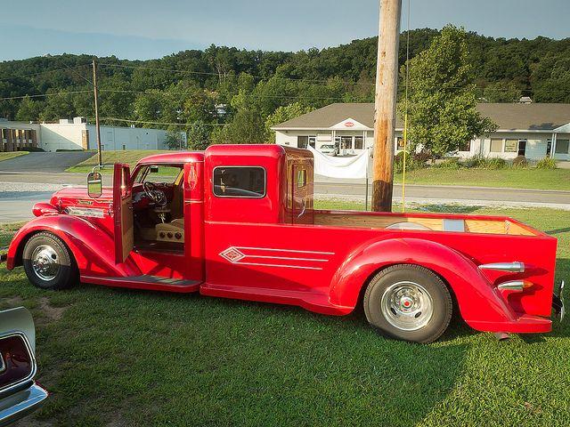 1936 Diamond T Custom Truck Side View by John P Sullivan