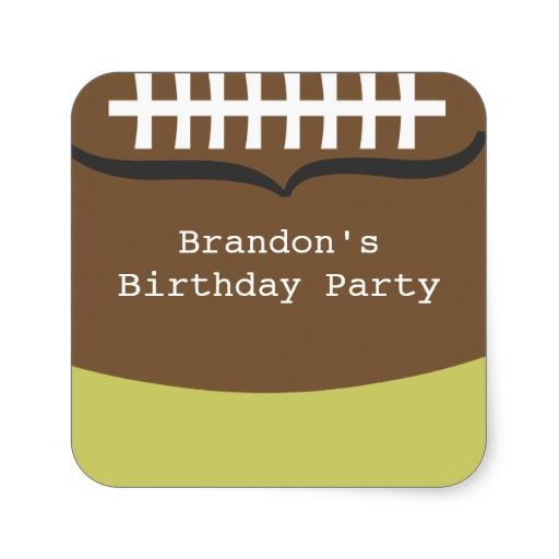 Football Birthday Party Stickers