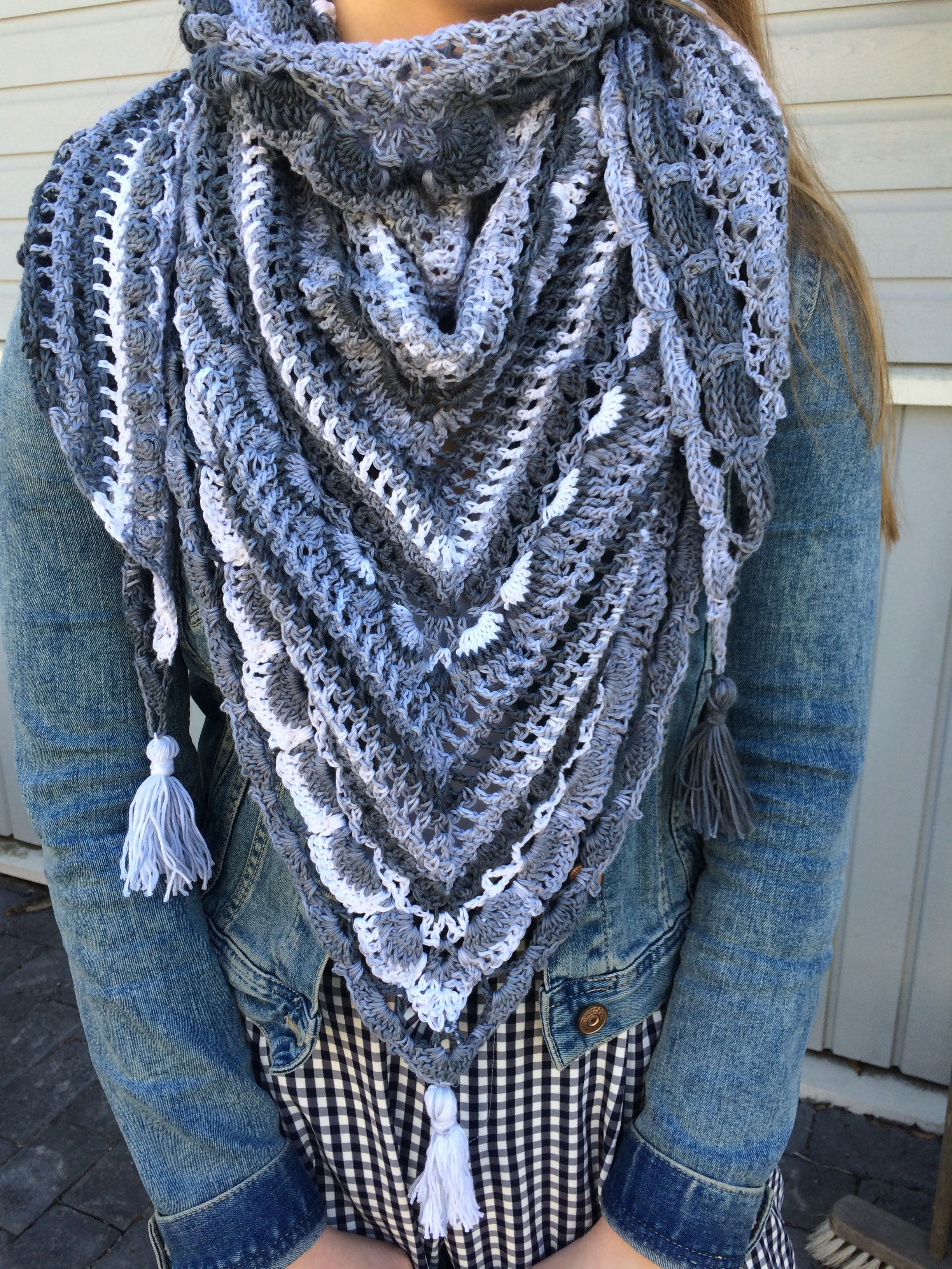 Lost in time shawl. Yarn Alize Bella Batik, hook size 5. Free ...