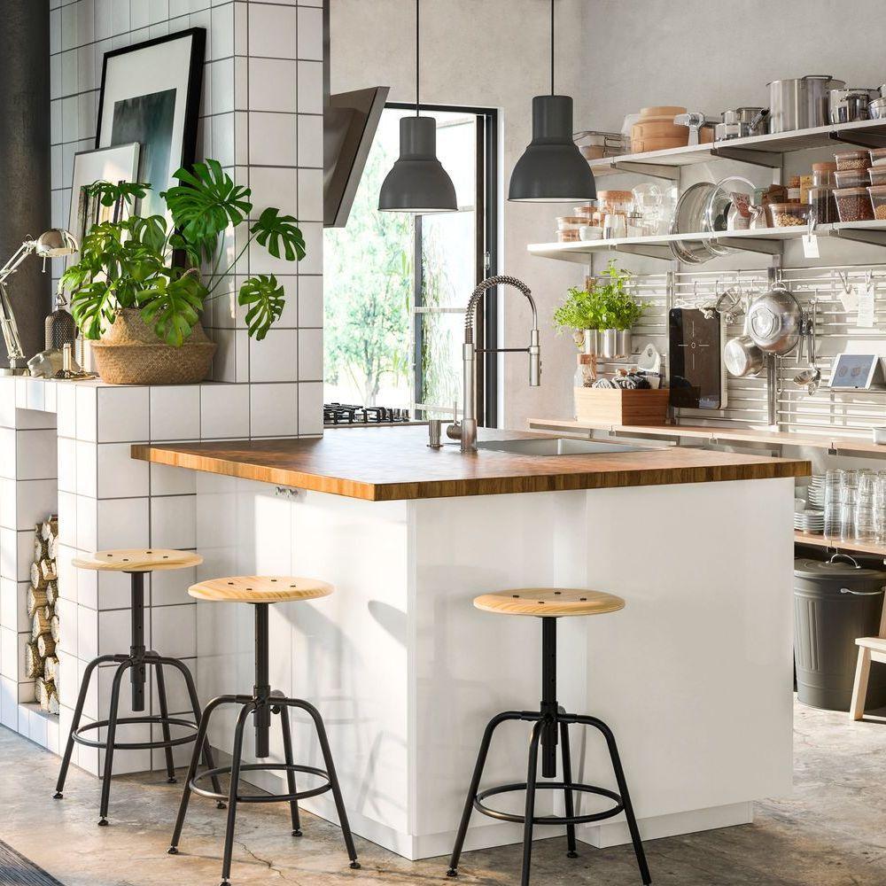 Ilot Central Ou Placer L Ilot Dans La Cuisine Kitchen Design Kitchen Decor Kitchenette Ikea
