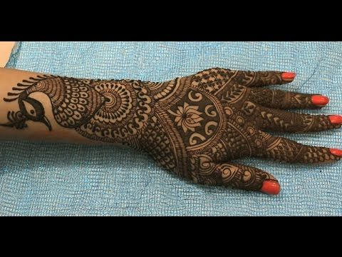 Henna Or Mehndi : Traditional bridal cool henna or mehndi design for hand ☆ step by