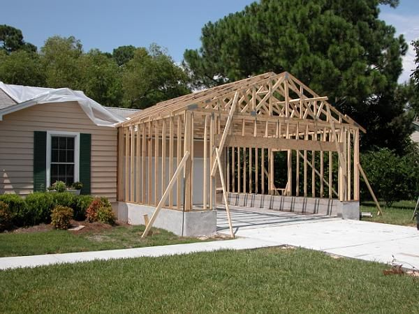 Garages Pettinato Construction Inc Gulf Breeze Fl Garage Addition House With Porch Building A Porch