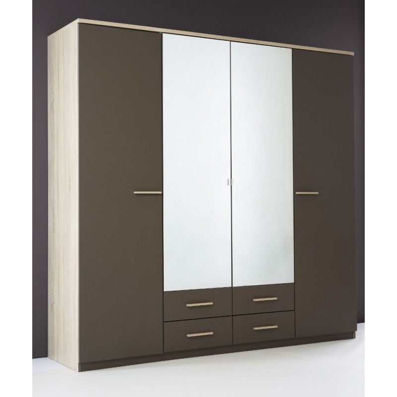 Penderie Armoire Armoire Penderie Rangement Moderne 4 Portes Panel Meuble Magasin Bedroom Cupboard Designs Cupboard Design Bedroom Cupboards
