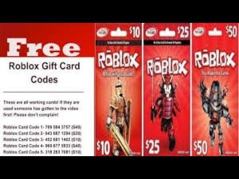 ROBLOX GAME CARD CODES GIVEAWAY