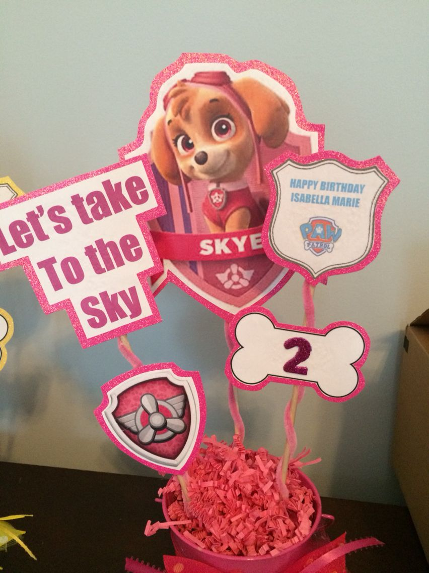 Admirable Diy Skye Centerpiece Paw Patrol Party Paw Patrol Download Free Architecture Designs Scobabritishbridgeorg