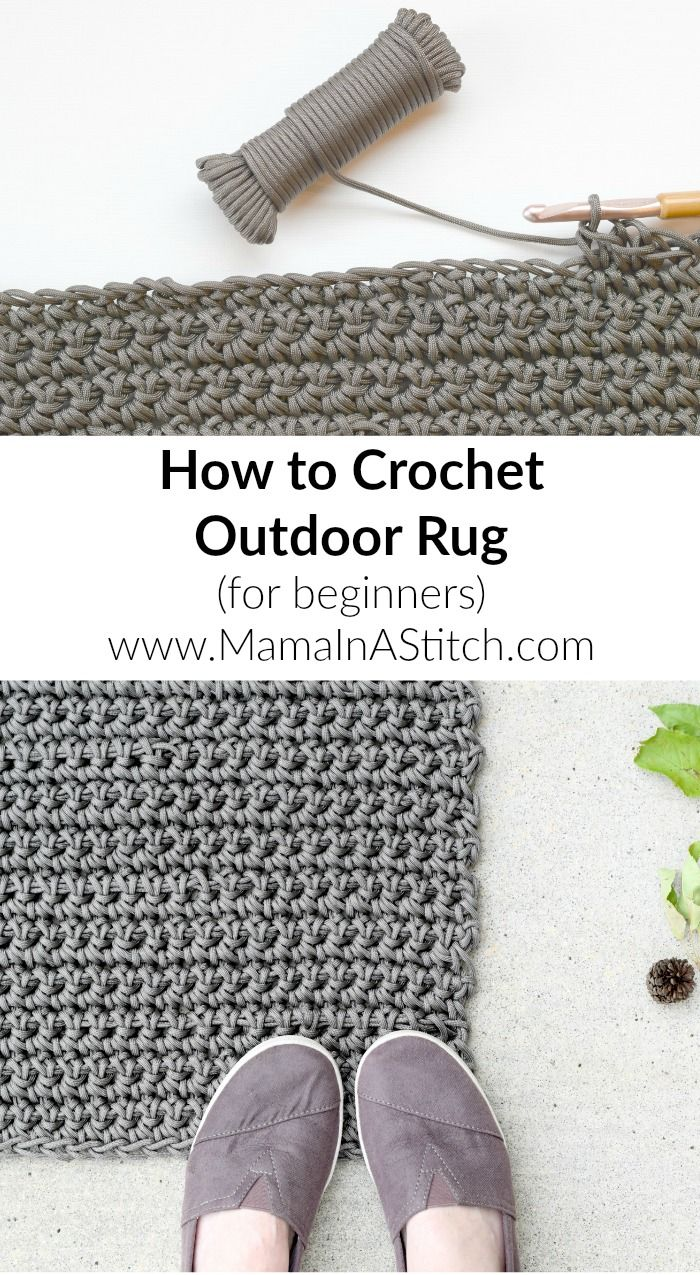 How To Crochet An Outdoor Rug For Beginners So Easy And Useful Freepattern Tutorial