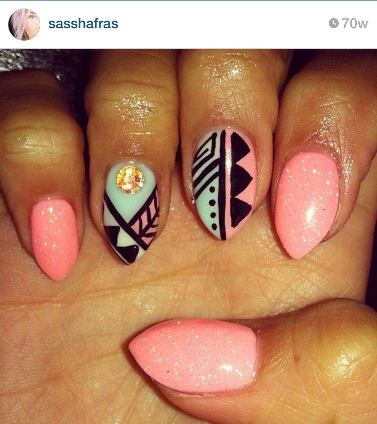 Mexico Nails Nails Nails Vacation Nails Ja Nails Inspiration