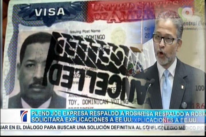 La JCE Solícito Explicaciones A la Cancillería Sobre Las Razones Del Retiro De Las Visas A Roberto Rosario