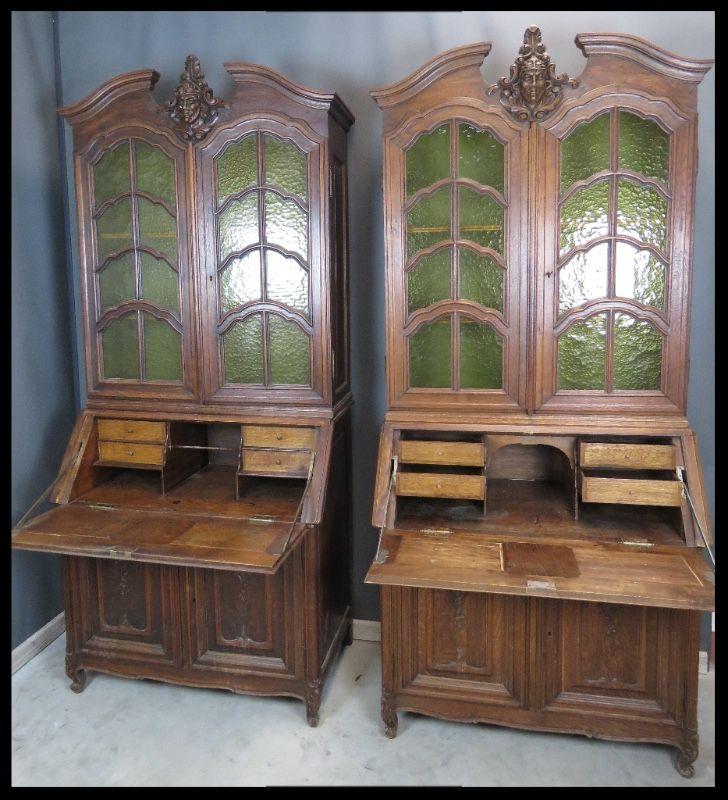 2 beautiful antique librarian desks for sale te koop 2 antieke secretaires