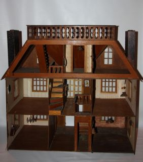 Genial Antique Doll House Van Buren Greenleaf Furniture Vintage Wooden Wood