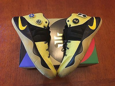 40e9b30fe04be5 New Nike Mens Kyrie 2 AS Allstar Size 12 Black   Gold 835922 307 Unreleased  in Clothing