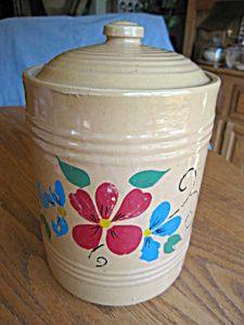 Vintage Cookie Jars For Sale Nice Looking Vintage Cold Painted Stoneware Cookie Jar For Sale At