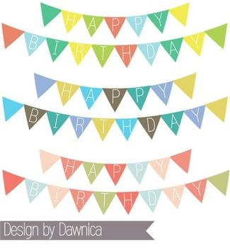 birthday banner clipart banners bunting