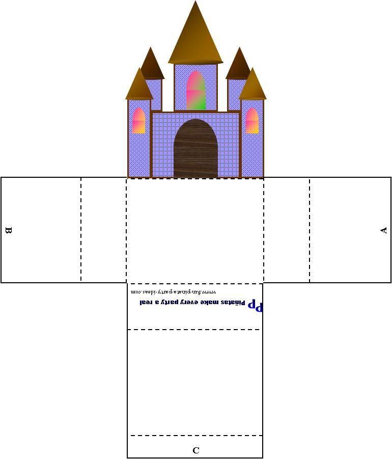 printable princess castle let every guest make her own castle