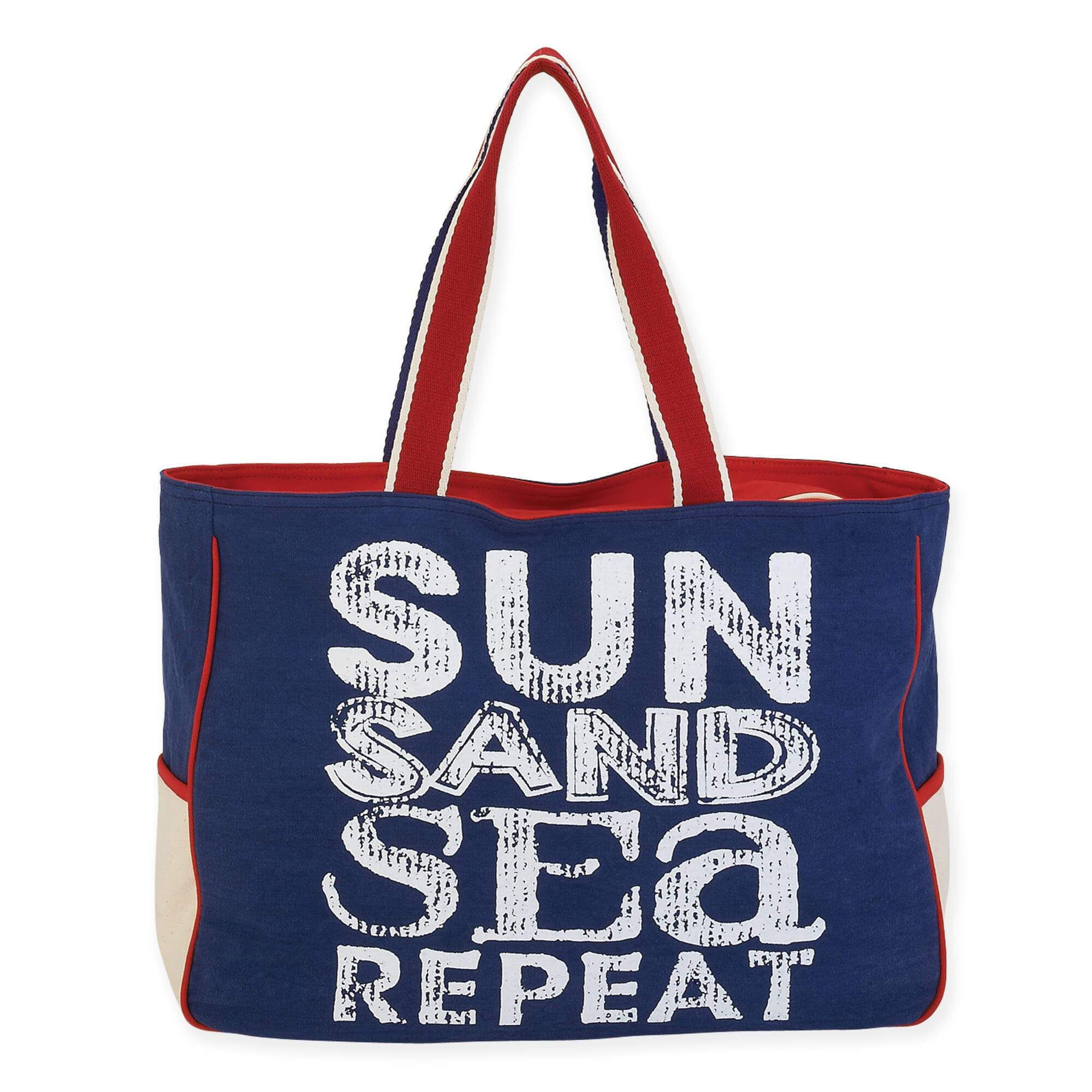 Sun Sand Sea Repeat Oversized Tote By N Products