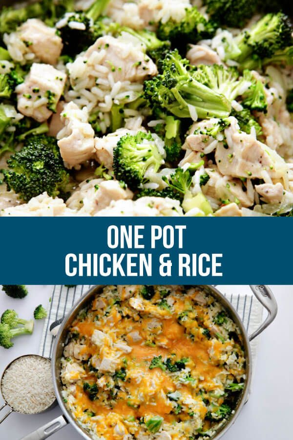 One Pot Chicken and Rice Recipe #easyonepotmeals