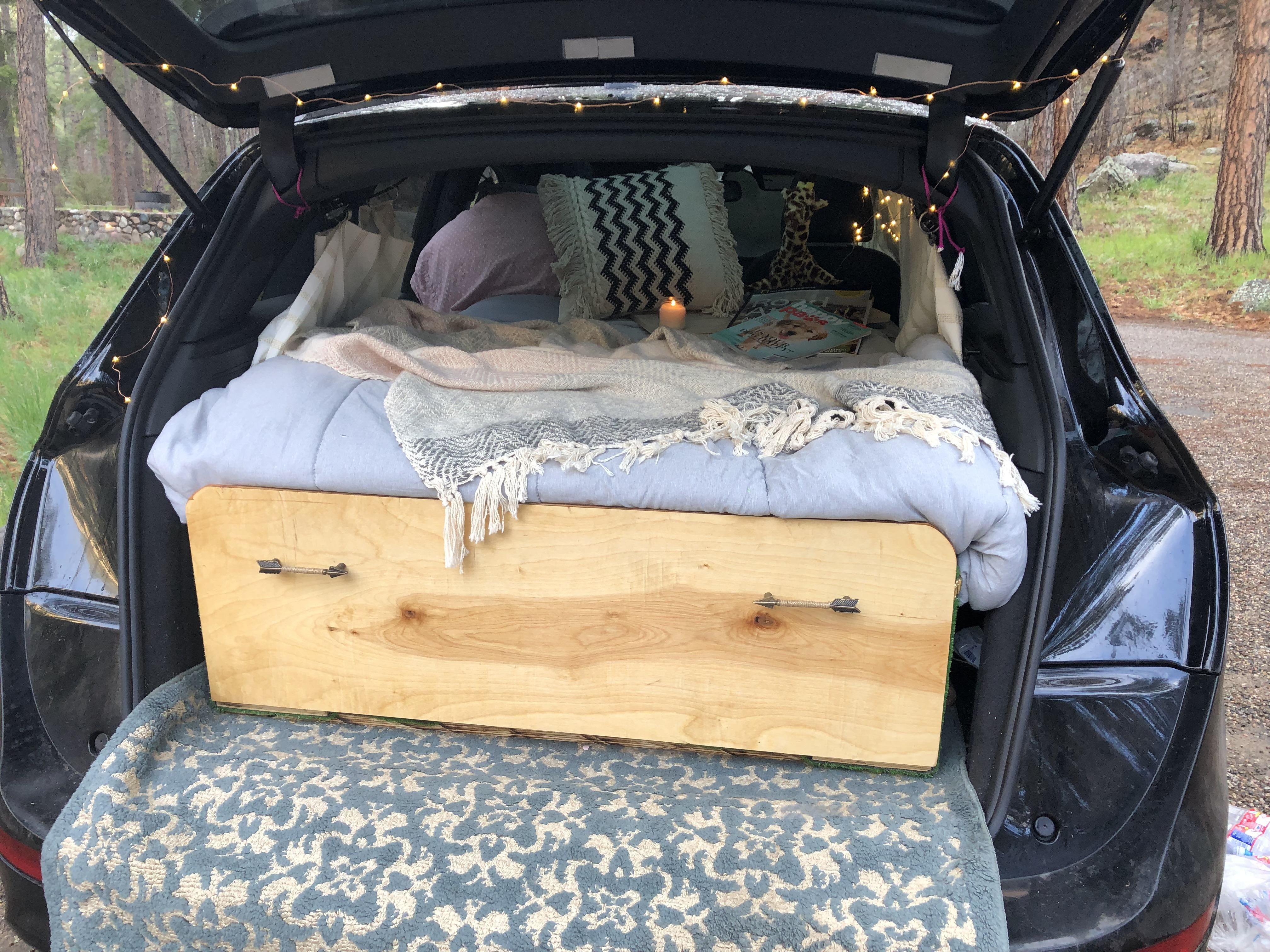 Converted My Audi Q5 Into A Camper Van For A Southwest Road Trip Camping Hiking Outdoors Tent Outdoor Caravan Campsite Audi Q5 Best Camping Gear Camper