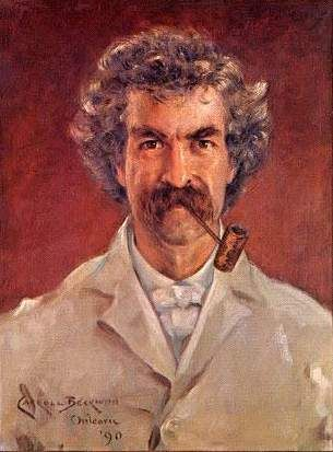 Mark Twain: Author, Humorist, Public Speaker, & Pipe Smoker. He was a friend to presidents, artists, industrialists, & European royalty - Tobacco Pipe Smoking - Painting