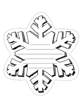 snowflake template writing  Snowflake Writing Template | Products in 7 | Snowflake ...