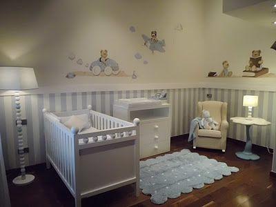 Azul y blanco decoration for my bbb pinterest azul - Cuarto infantil nino ...