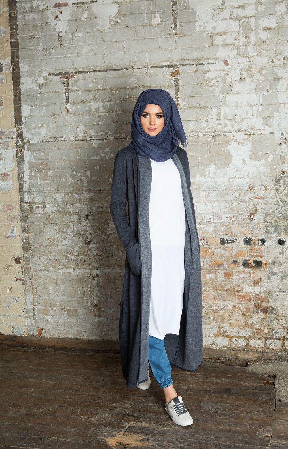 Coatigan | Aab | Hijab fashion, Hijab outfit, Muslim fashion