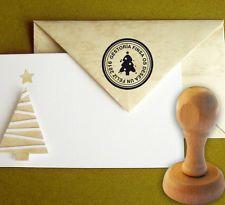 Sello de Caucho Arbol Navidad Personalizado 40 mm, Christmas, Sobres,Tarjetas