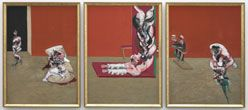 Three studies for figures at the base of a crucifixion, Francis Bacon