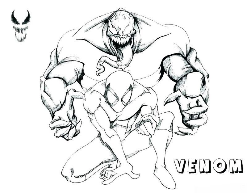 Venompool Coloring Pages Coloring Pages Coloring Pages To Print Spiderman Coloring