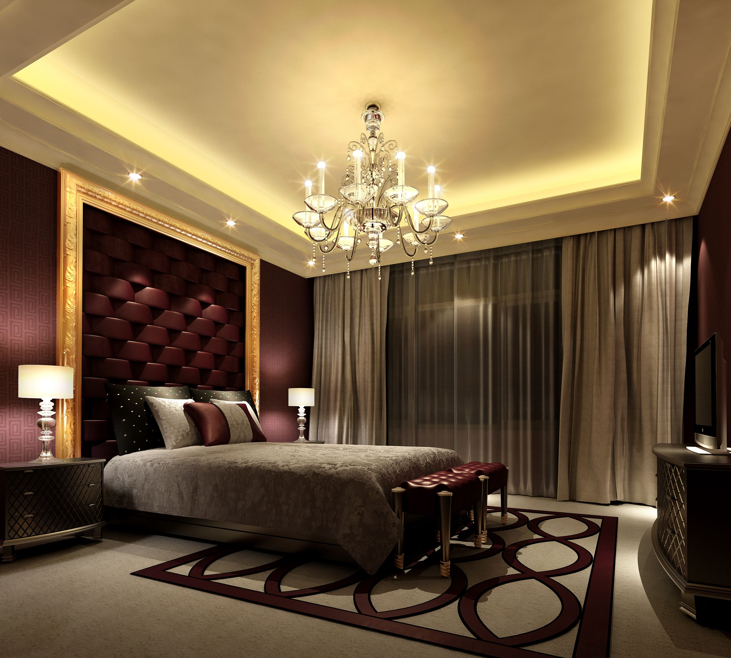 Elegant Bedroom Idea Comfortable Mood 4780 Modern Home Designs Elegant Bedrooms Interiordaily