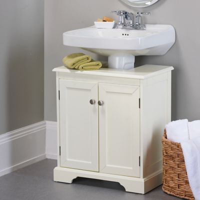 Weatherby Bathroom Pedestal Sink Storage Cabinet  Pedestal Sink Captivating Maximize Space In Small Bathroom Design Decoration
