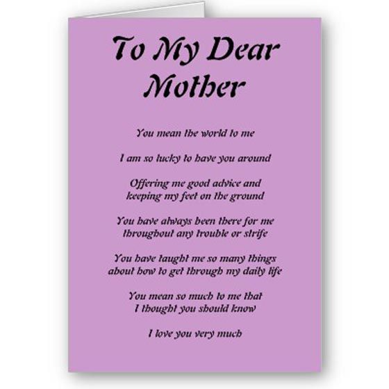 Happy Mother's Day Poems | mother s day express your feelings that ...