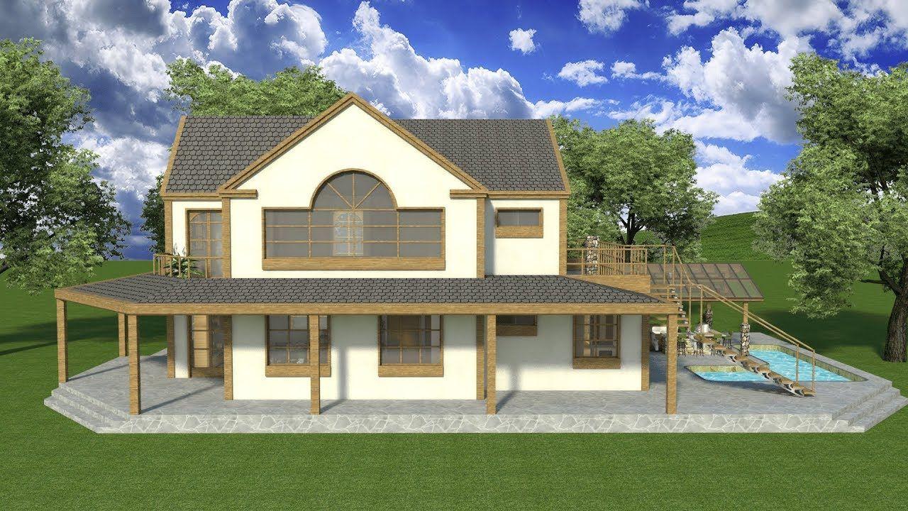 Dise os planos 3d casas campestre sketchup proyecto cdc k1 - Diseno de casas 3d ...