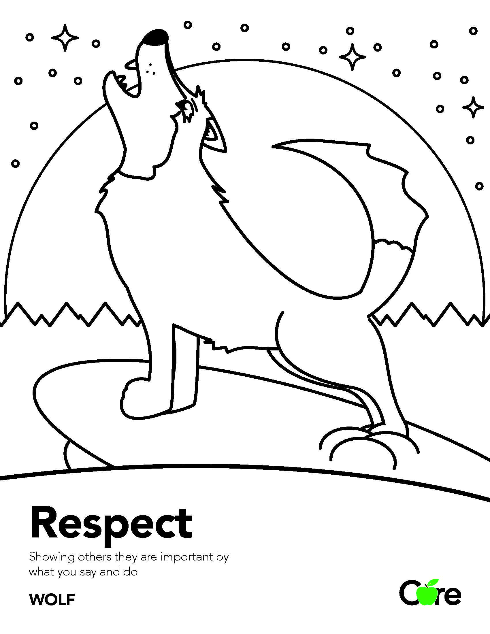 Respect Coloring Sheet