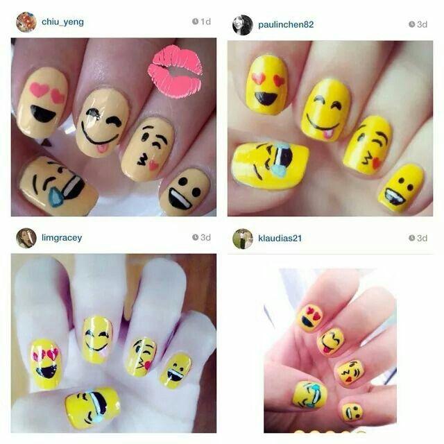 Emoticon nails   Fun nails   Pinterest
