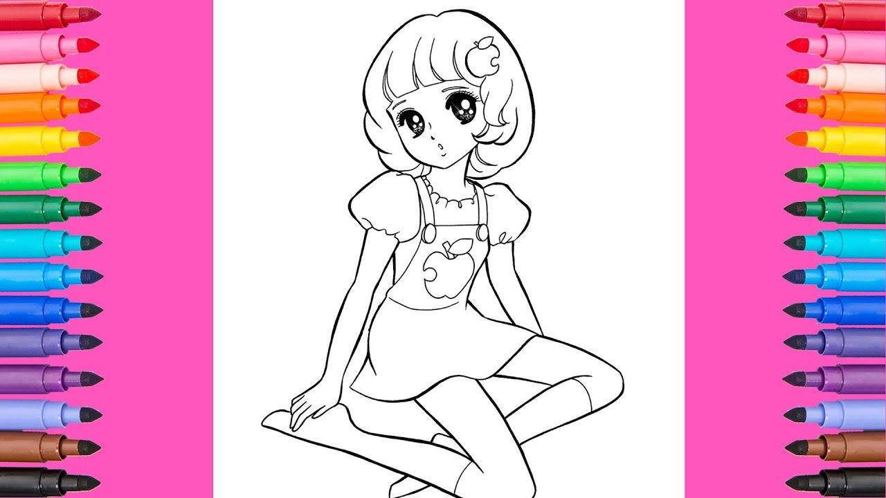 Coloring barbie japanese anime coloring pages barbie coloring book
