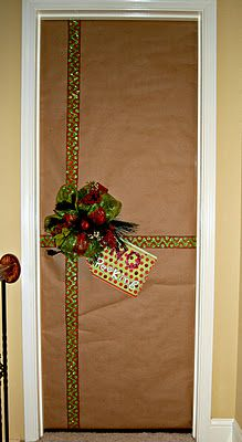 Wrap Your Office Door Like A Present To Be Festive