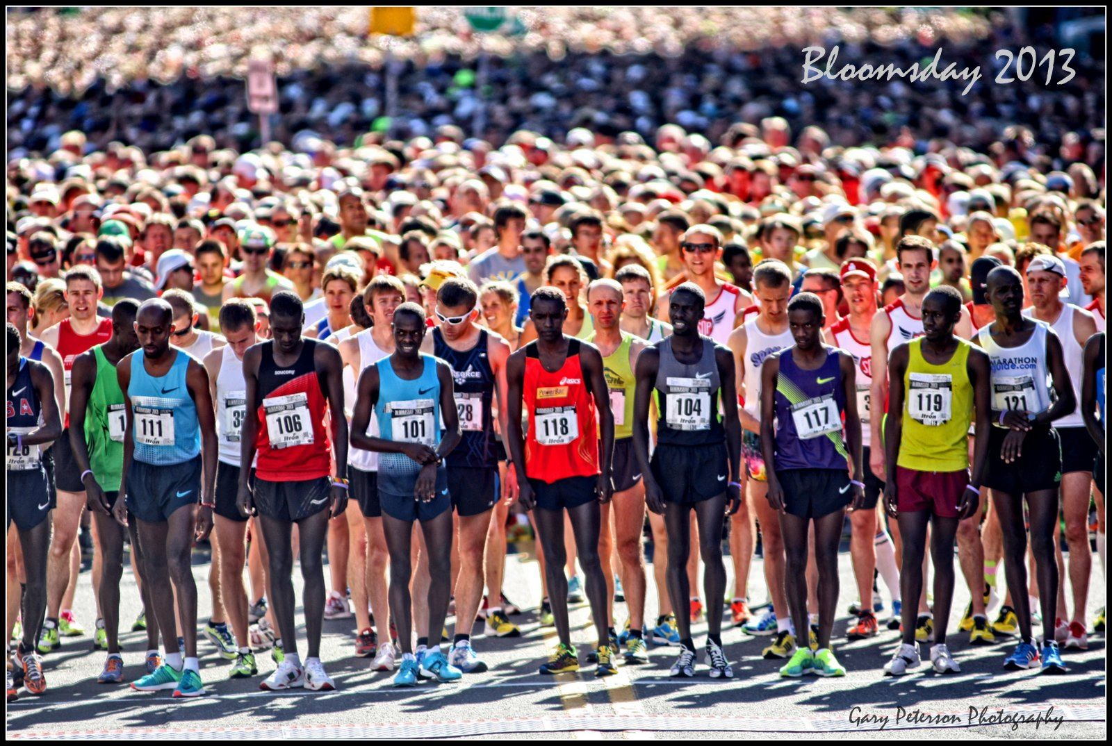 On your marks, get set, BLOOMSDAY!  Here's the Spokane Bloomsday starting line through the lens of photographer Gary Peterson.