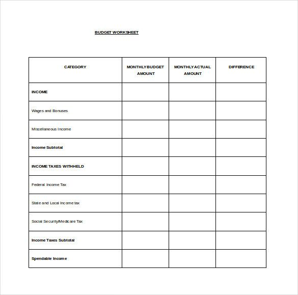 Monthly Budget Spread Word Template Free , Budget Spreadsheet - budget proposal