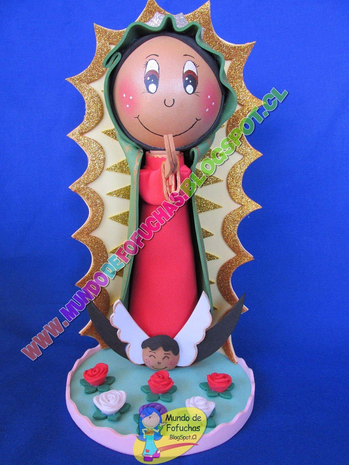 Fofucha Virgen de Guadalupe Mundo de Fofuchas Selene