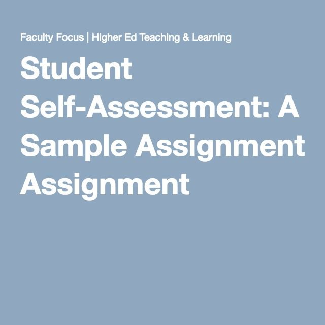 The  Best Self Assessment Examples Ideas On   Student