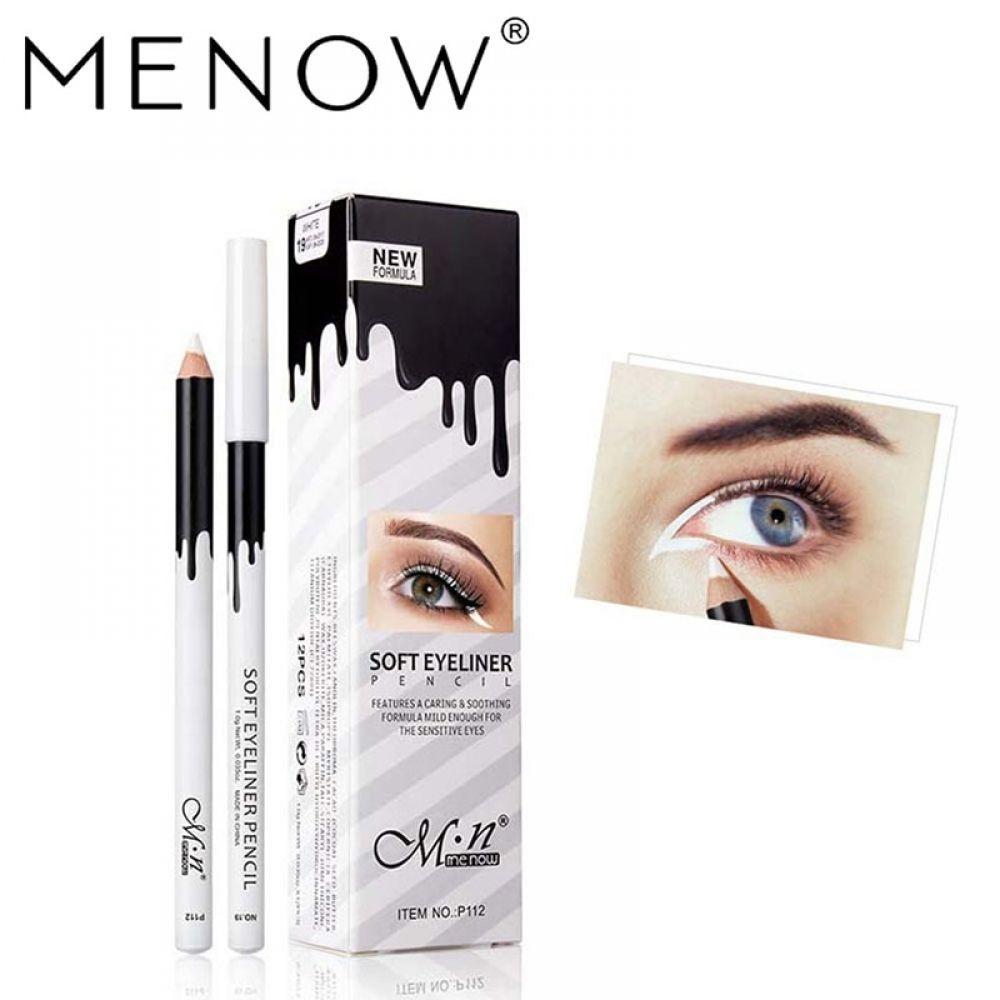 Nuevo Blanco Eyeliner Suave Facil Desgaste Ojos Abrillantador